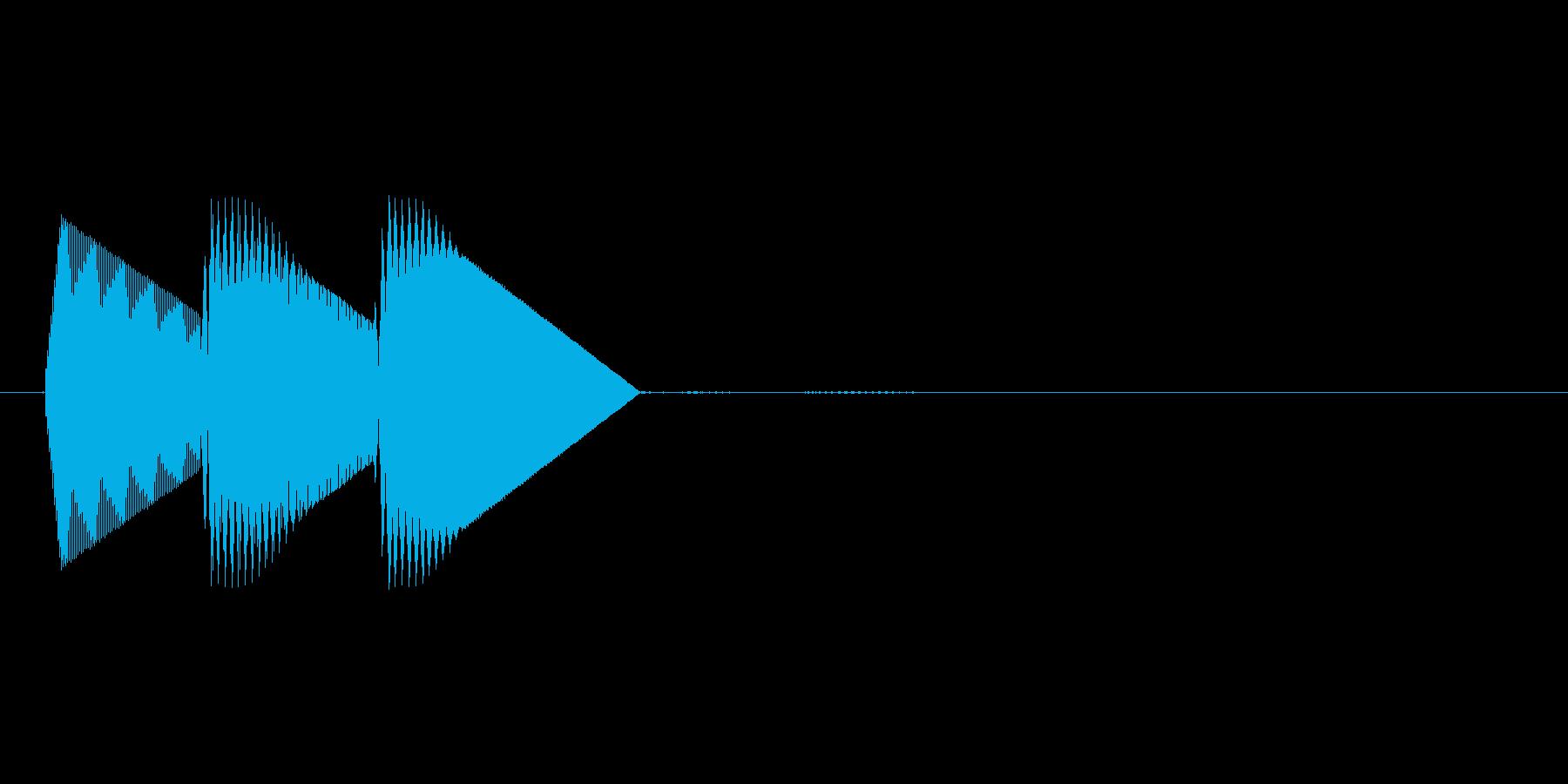 8bitのシステム音ピロン↑高音の再生済みの波形