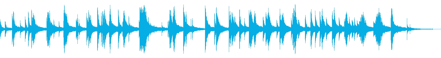 映像・ナレーション用ピアノ演奏(幻想)の再生済みの波形