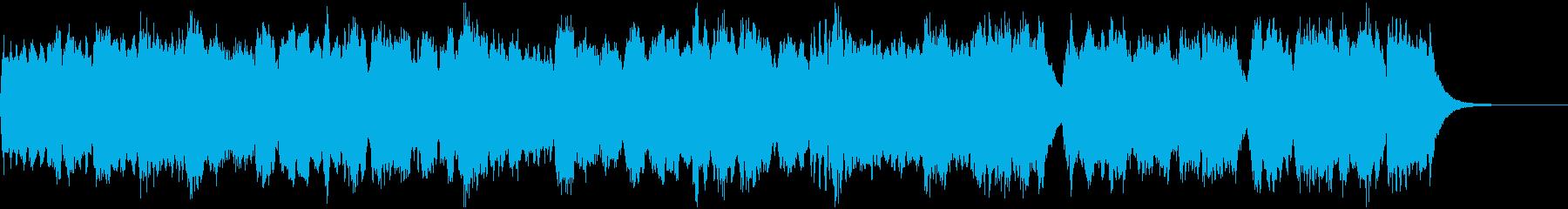 牧歌的なBGMの再生済みの波形