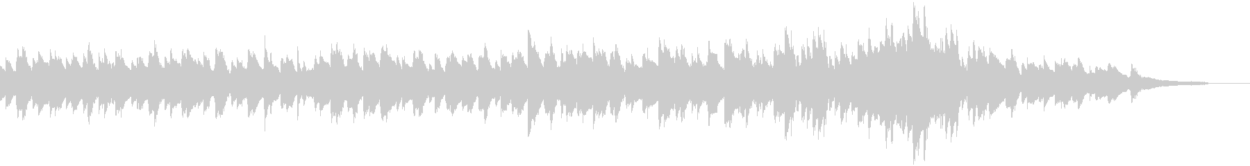 優しく柔らかい音色の映像用ピアノ曲の未再生の波形