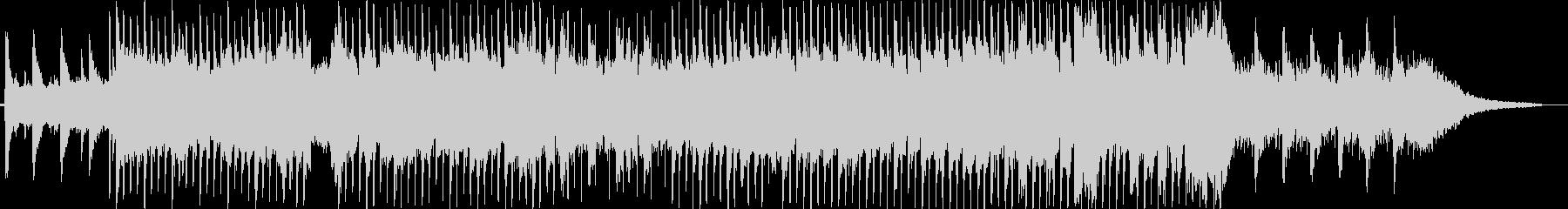 ピアノメインの神秘的な切ないチルアウトの未再生の波形