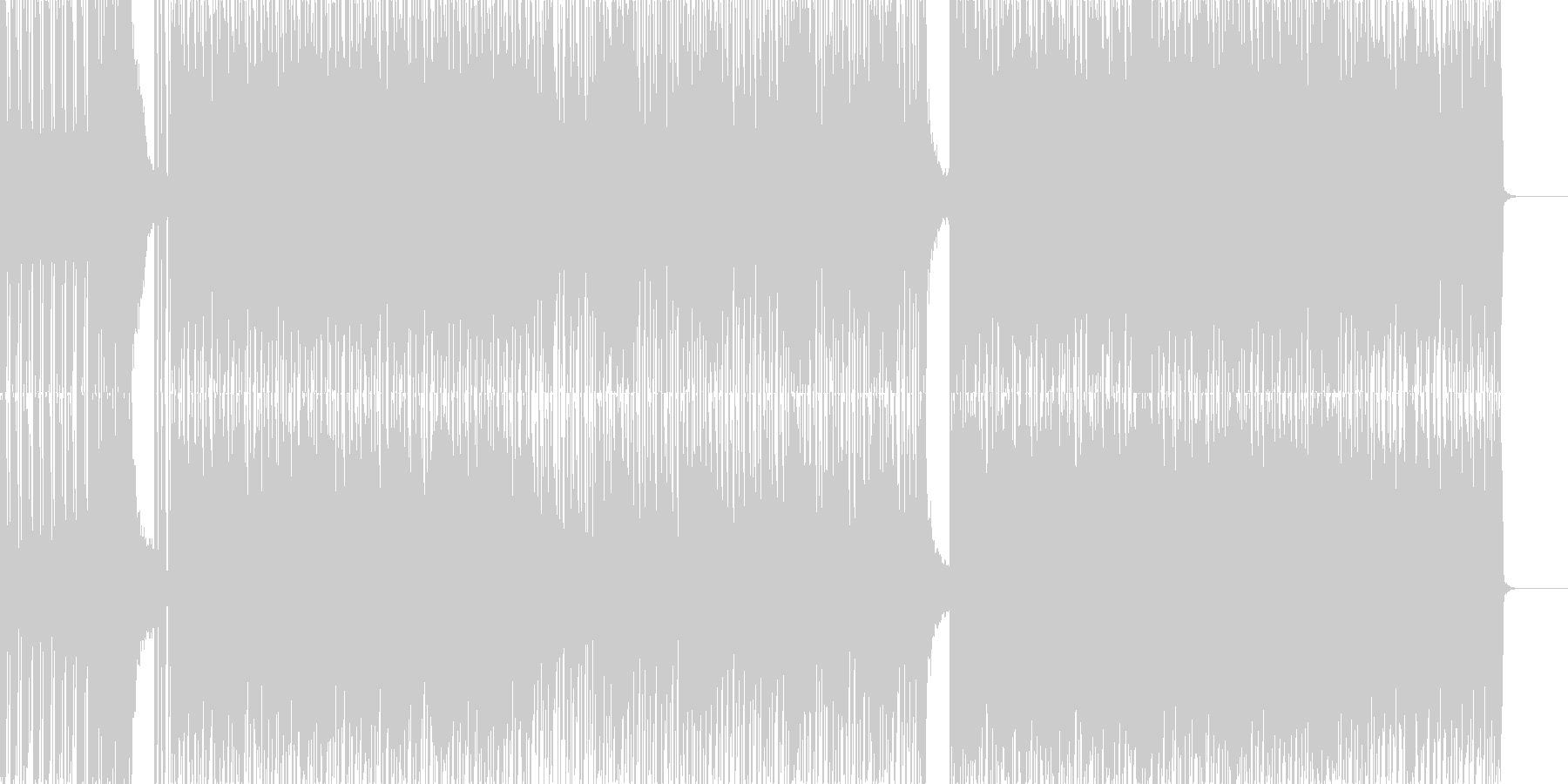 琴やフルートを使用した和風ロック曲の未再生の波形