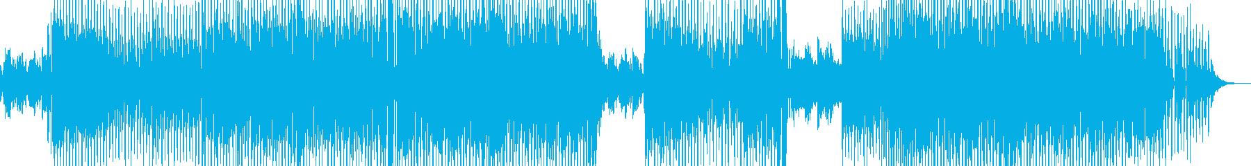 ホッと落ち着く日常的なテクノの再生済みの波形