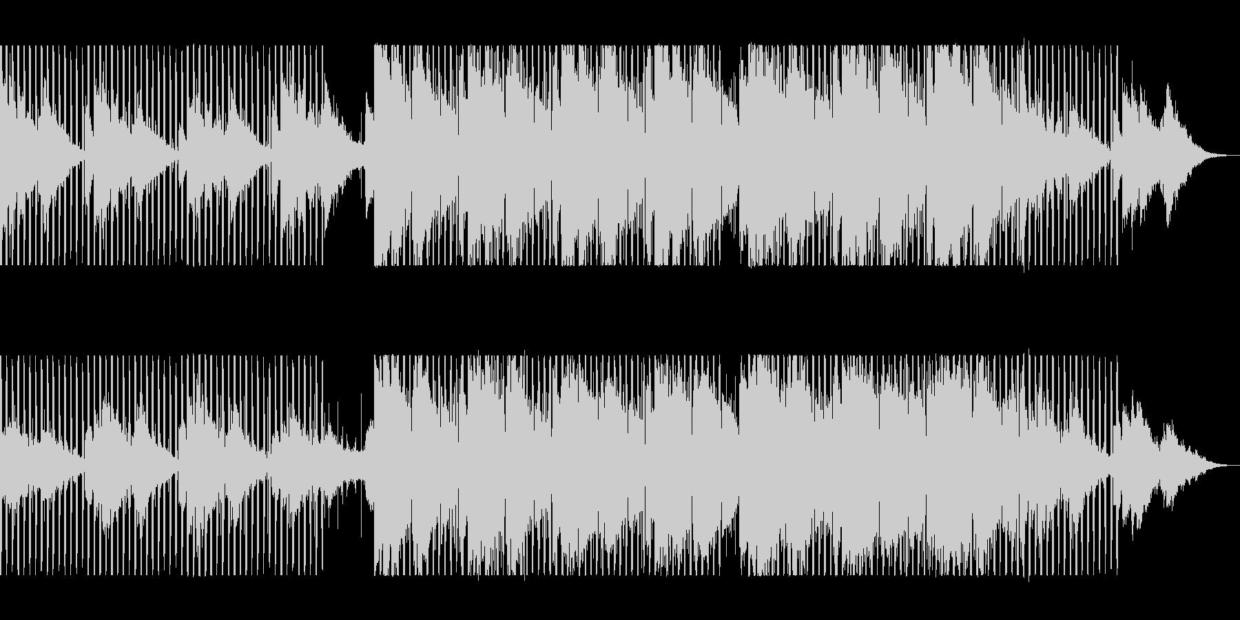 緩やかで穏やかなシンセピアノテクノポップの未再生の波形
