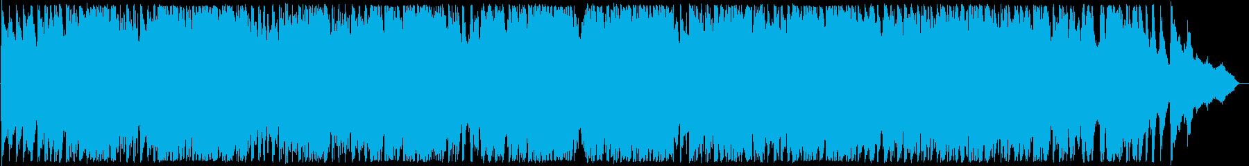 迫力ある弦楽器とピアノの演奏の再生済みの波形