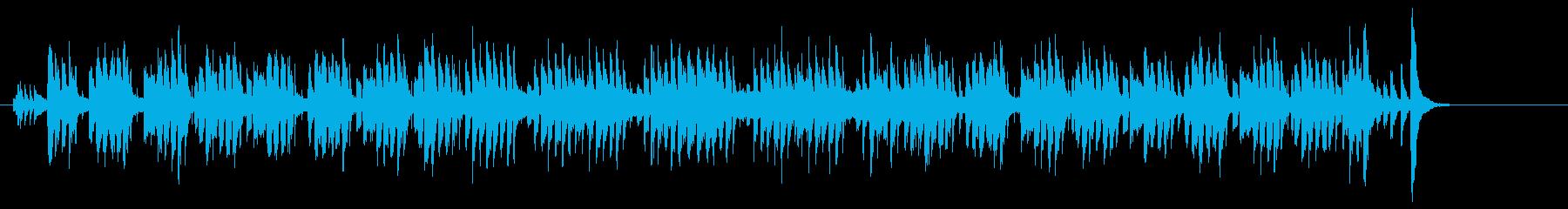 コンパクトにまとまったポップス調の再生済みの波形