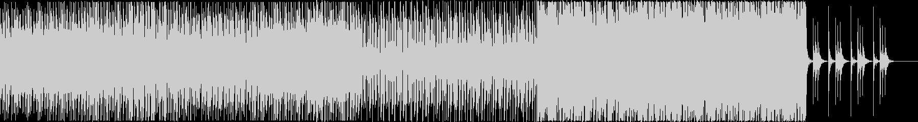 ダンサブルなビートとシンセサウンドの未再生の波形