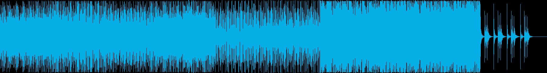 ダンサブルなビートとシンセサウンドの再生済みの波形