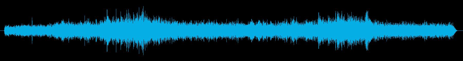 地下鉄車内の音 生録音の再生済みの波形