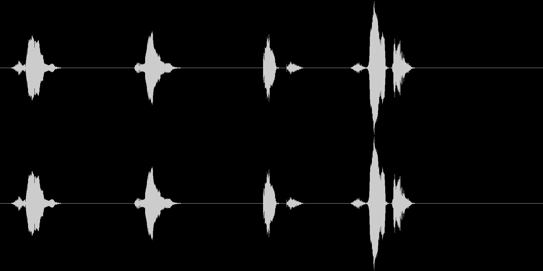 3(さん)・2(に)・1(いち)・スタ…の未再生の波形