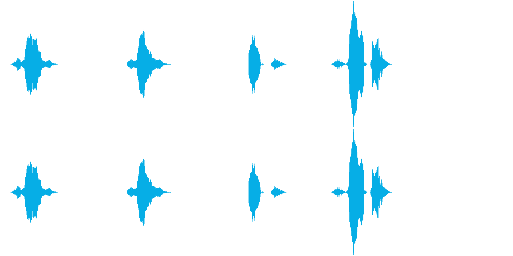 3(さん)・2(に)・1(いち)・スタ…の再生済みの波形