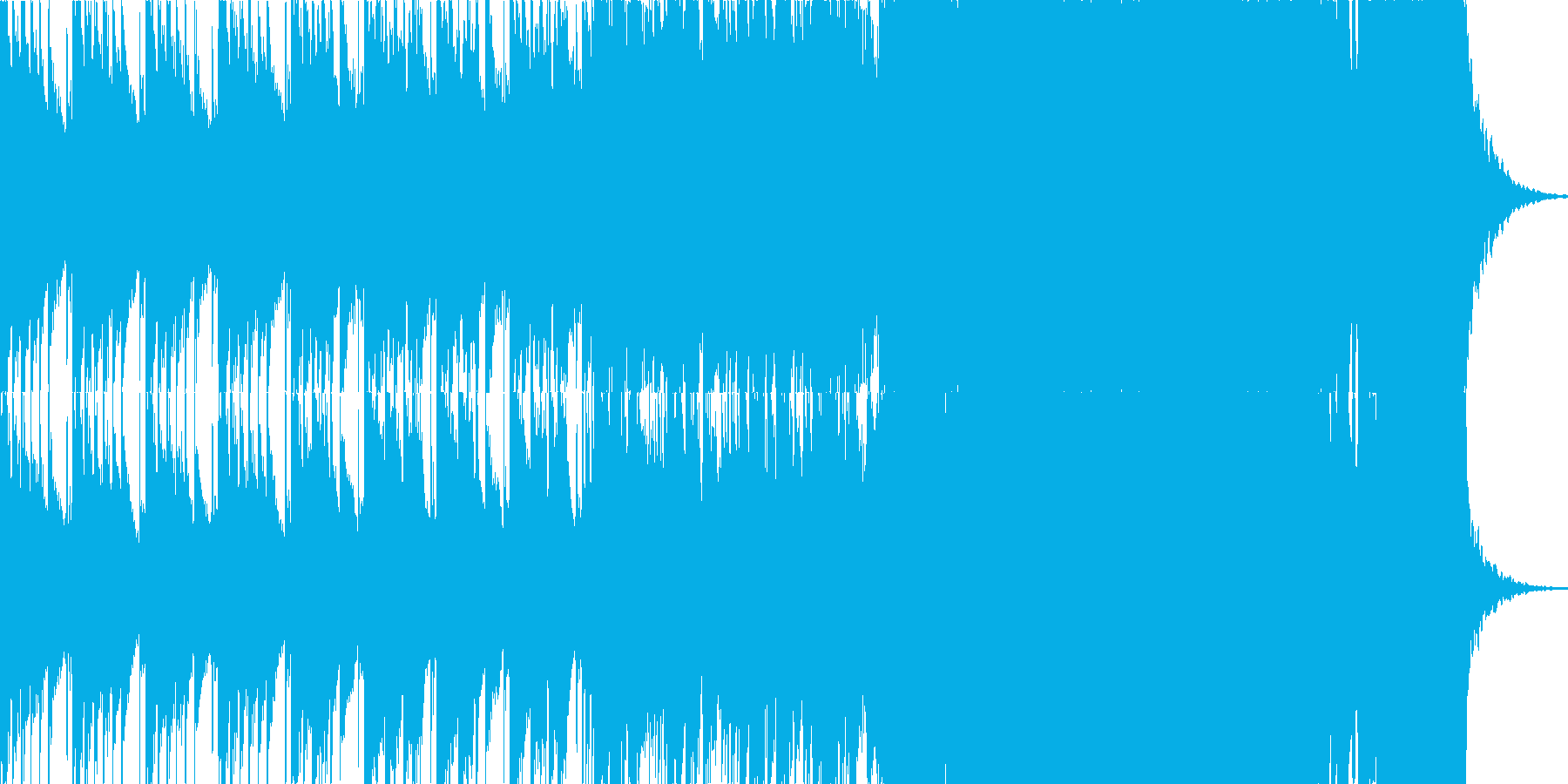 わくわくする様なウインターソングの再生済みの波形