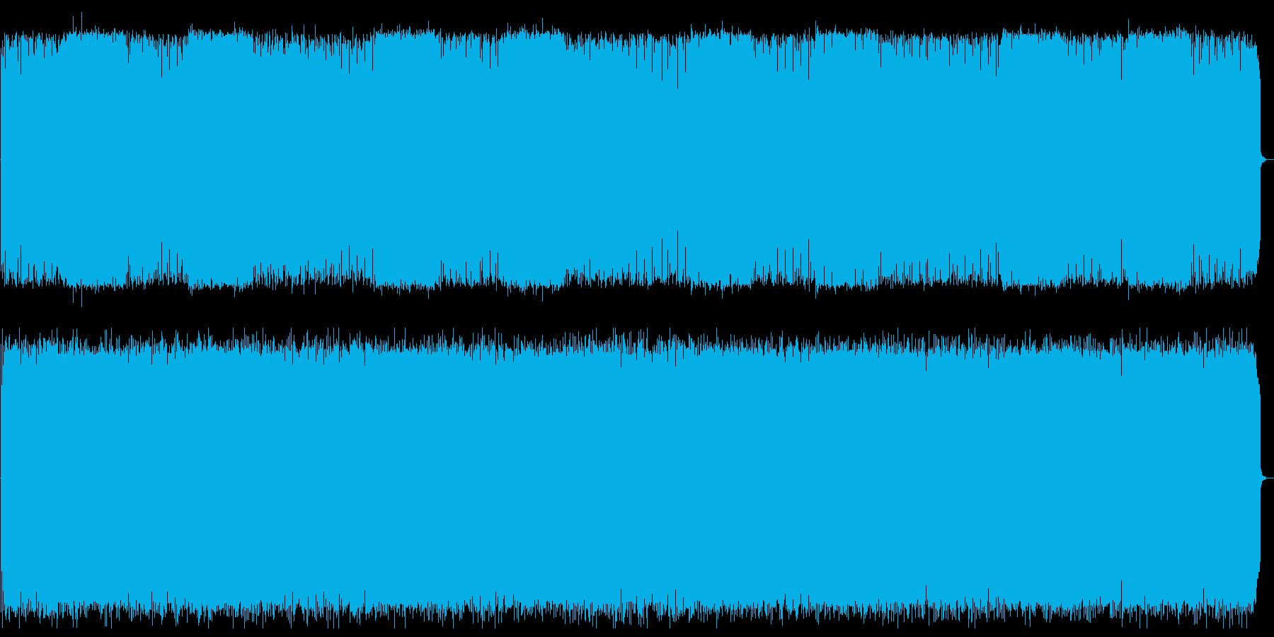 切ない旋律のテクノポップの再生済みの波形