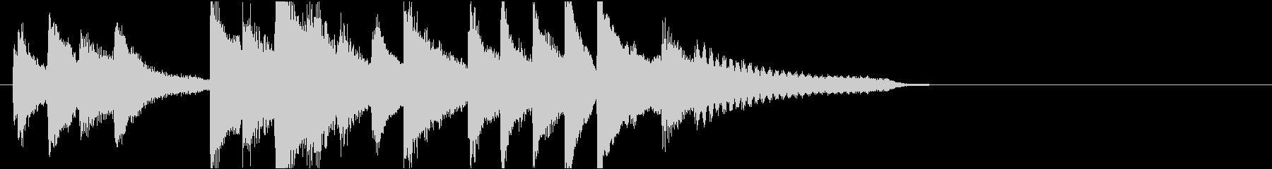 切ない3拍子のピアノジングルの未再生の波形