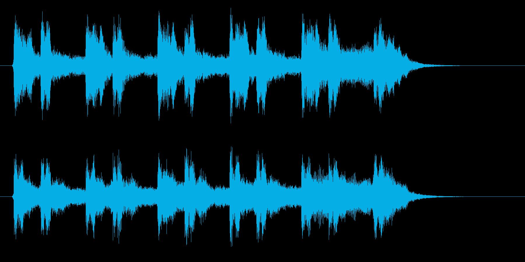 幻想的なシンセのヒーリングの再生済みの波形