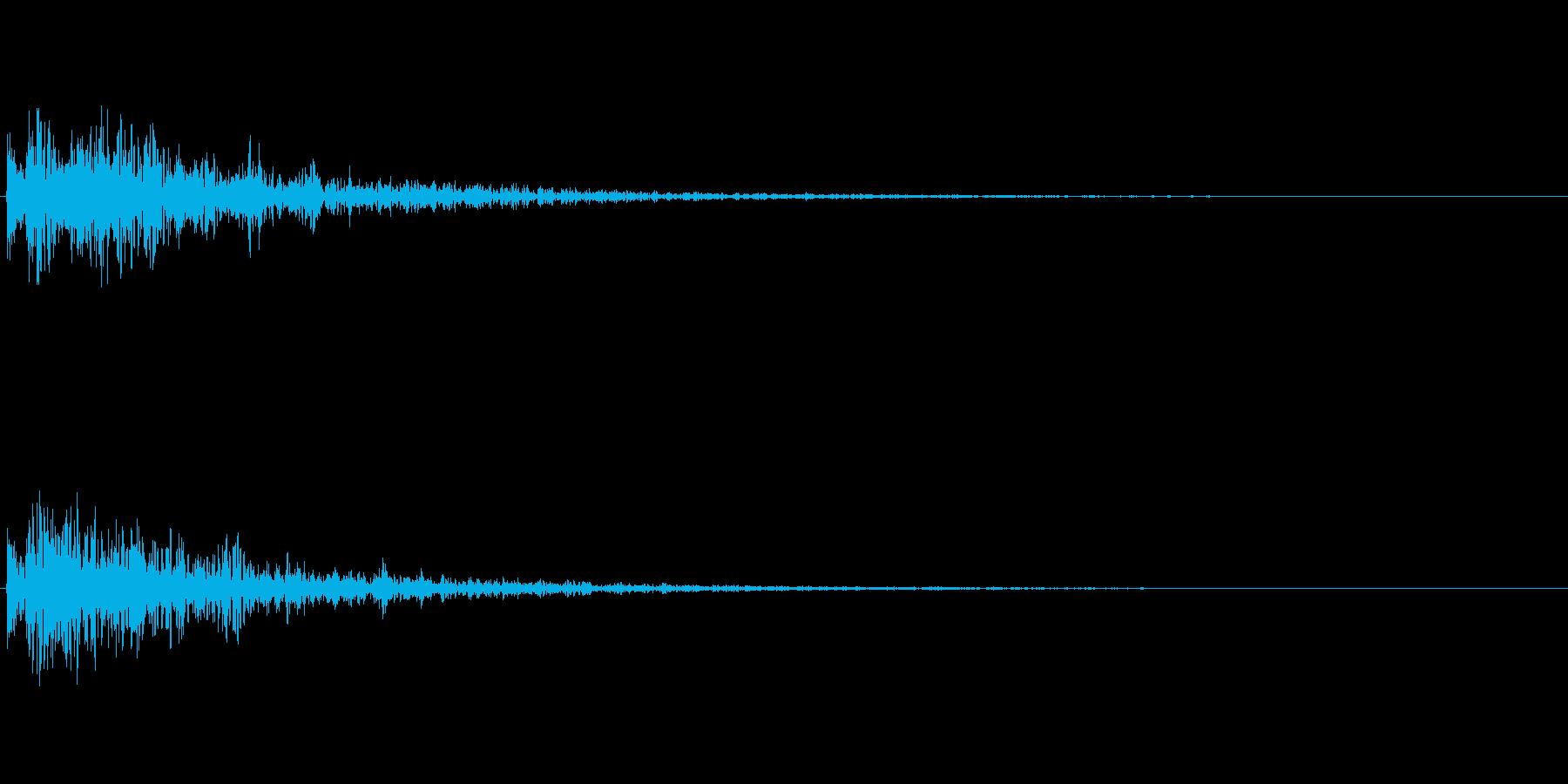 ドーン!(アニメなどの決めの音/衝撃音)の再生済みの波形
