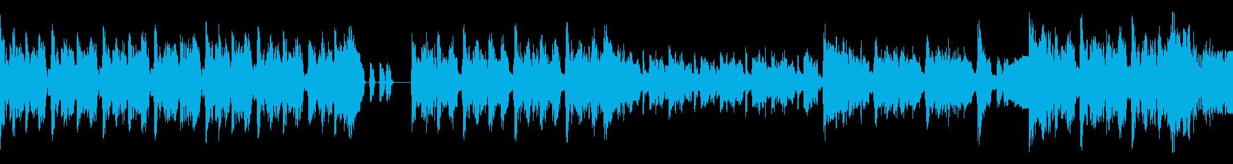 アプリやゲーム用途のハイテンポ短尺楽曲の再生済みの波形