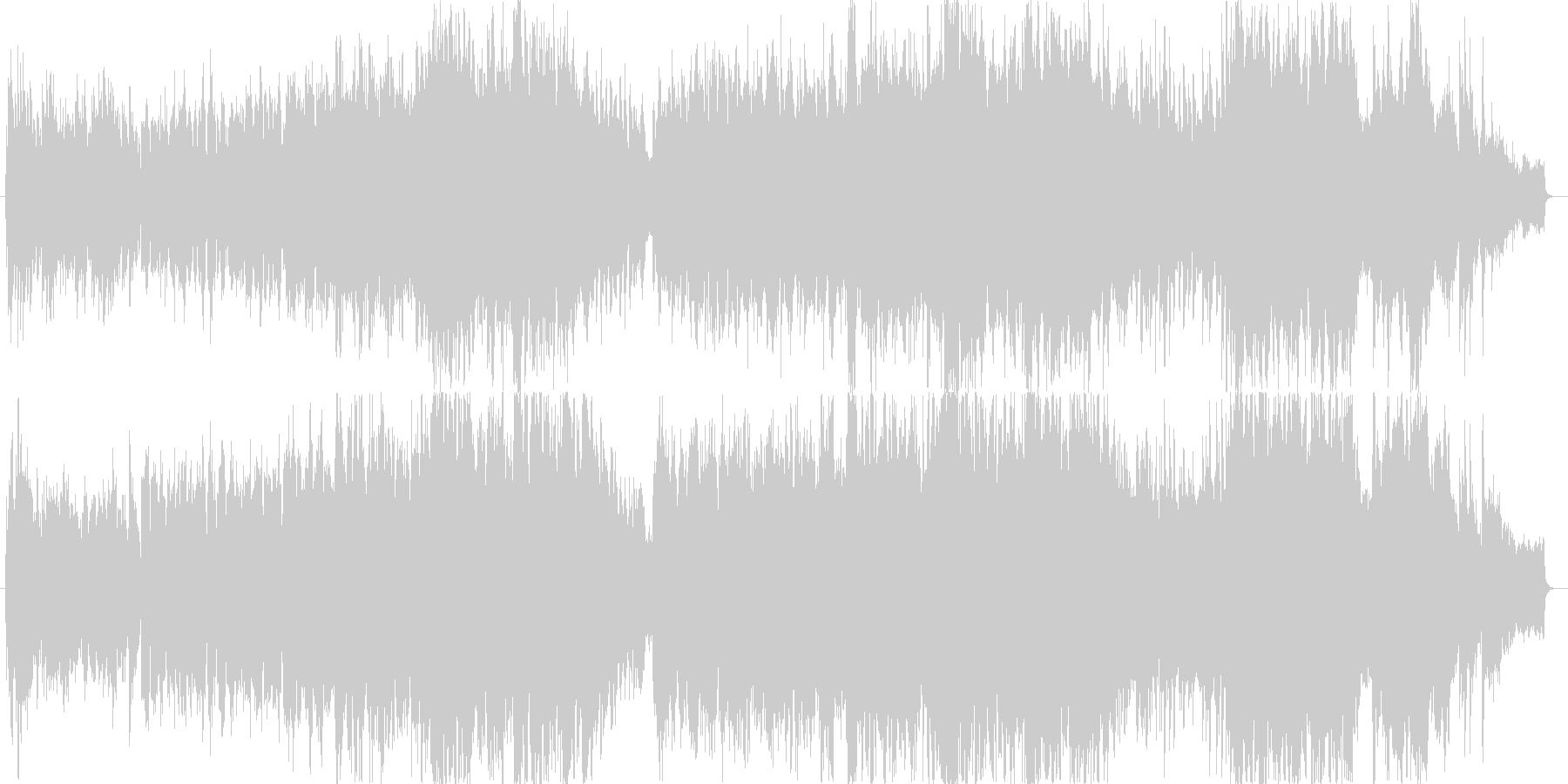 バイオリンによる感動的なバラードの未再生の波形