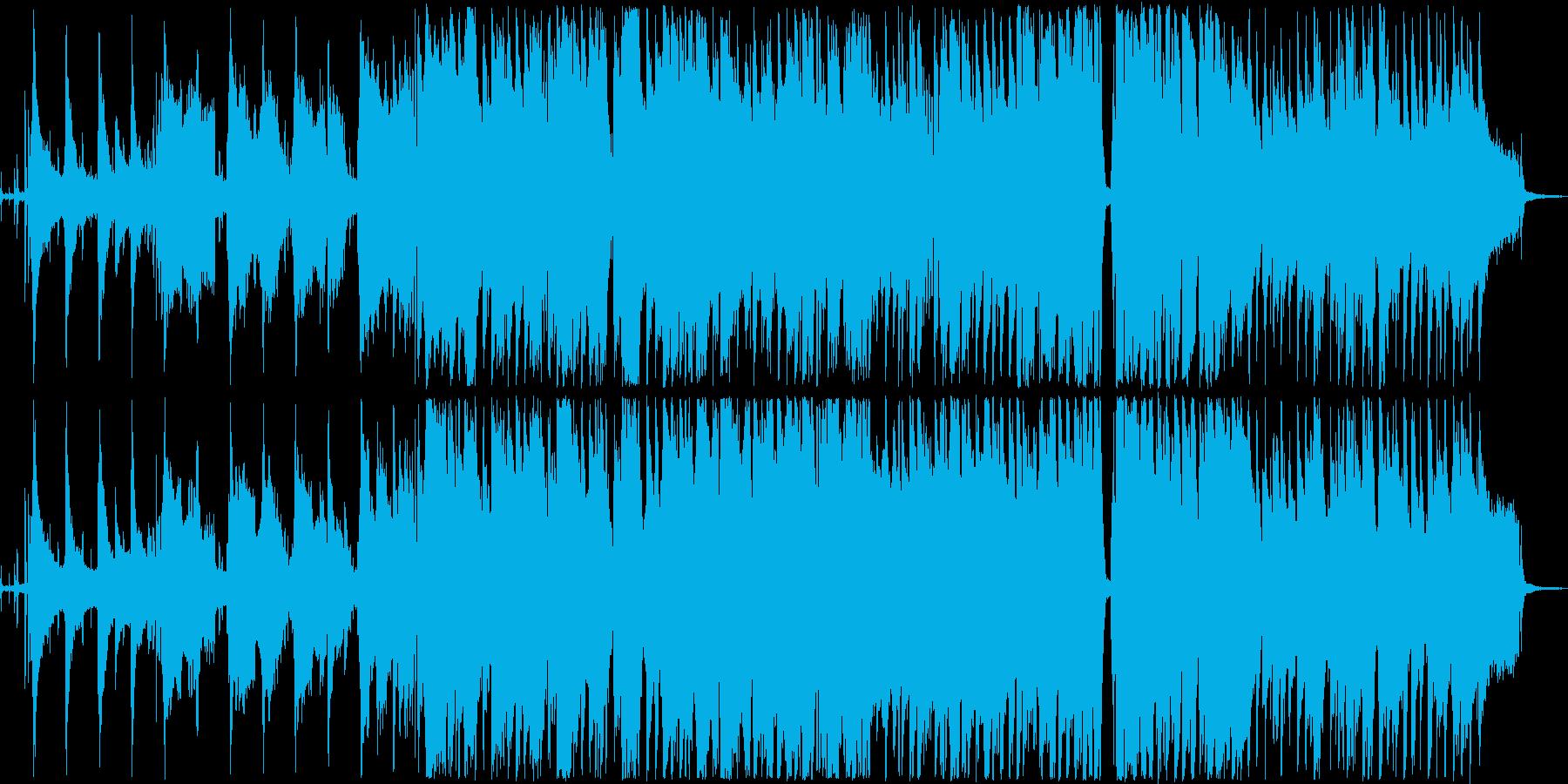 フルートとオーボエのシリアスなドラマ曲の再生済みの波形