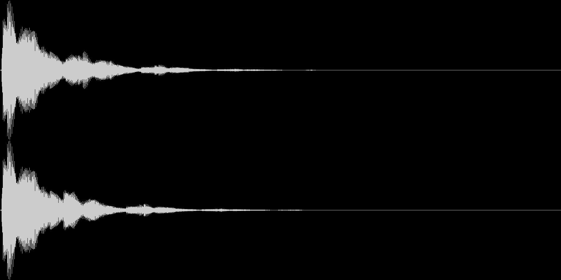 ピローンピローン…(ボタン音・スタート)の未再生の波形