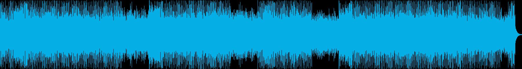 どこまでも走れそうなテクノポップの再生済みの波形