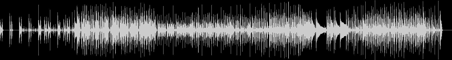 軽快な3ピースバンドのファンクの未再生の波形