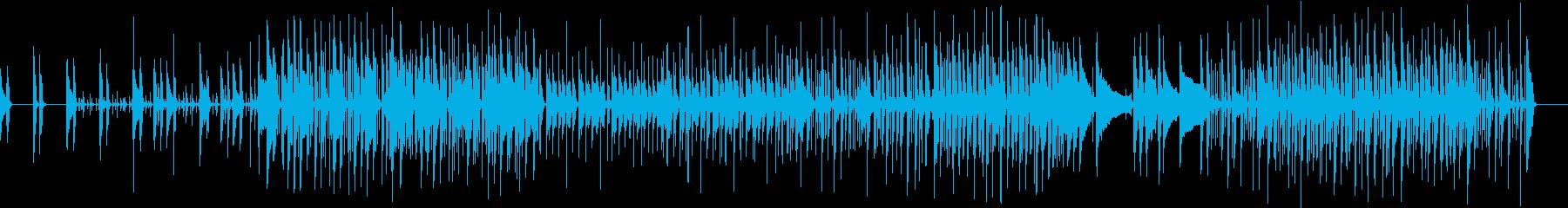 軽快な3ピースバンドのファンクの再生済みの波形