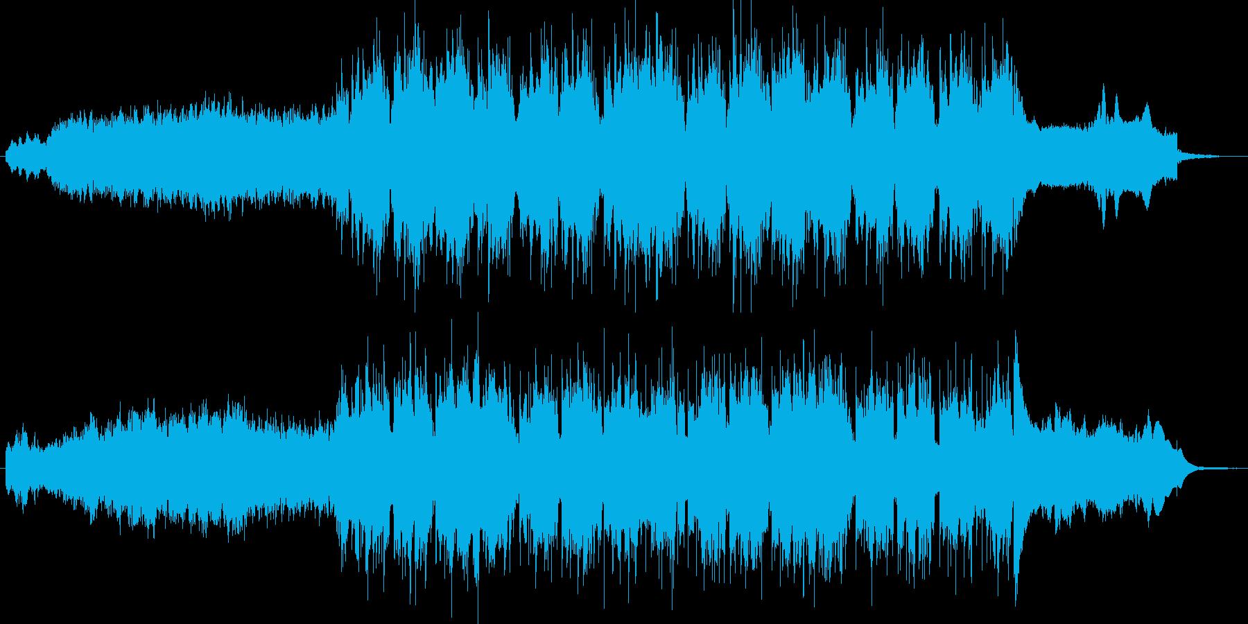 リズミカルな宇宙っぽい音楽の再生済みの波形