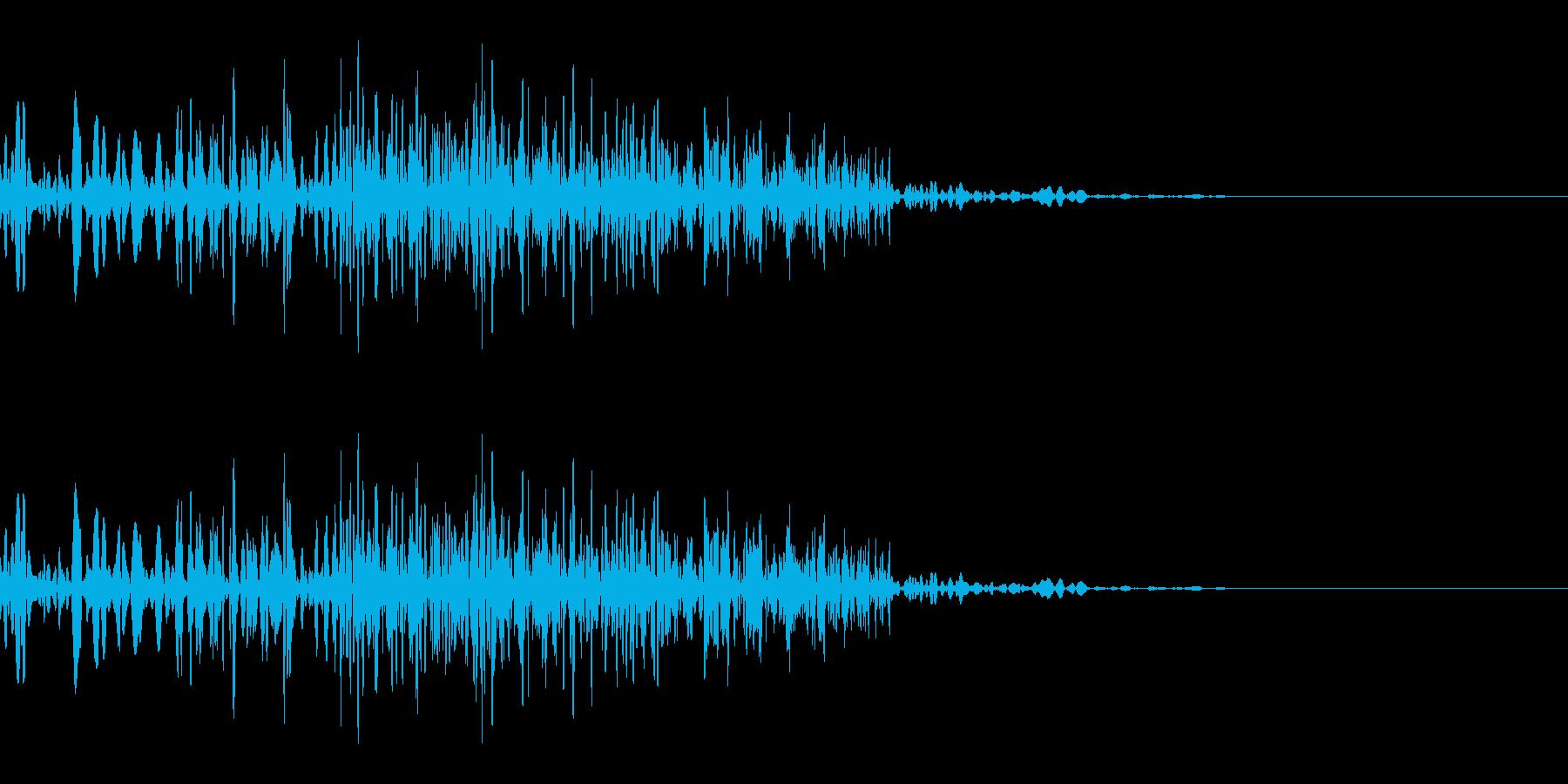 バシッ(殴る/小攻撃/パンチ)の再生済みの波形
