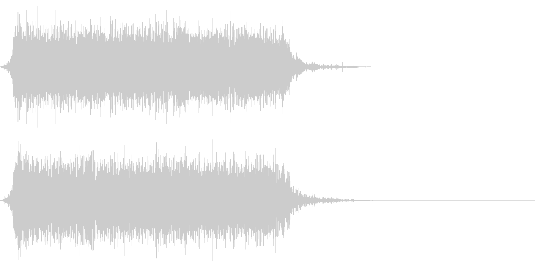 ジャー☆蛇口から水が流れる音 その2の未再生の波形