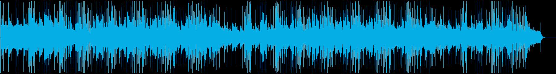 優しい感じのピアノメイン曲の再生済みの波形