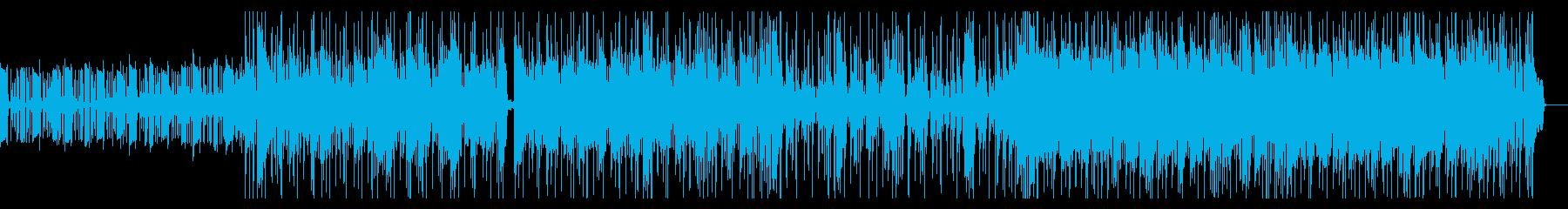 明るいファンク音楽、Youtubeの音楽の再生済みの波形