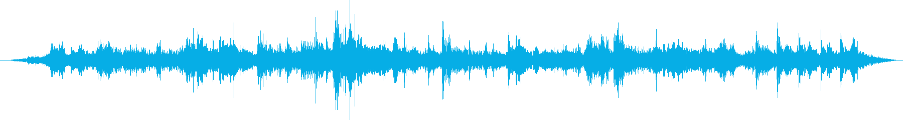 里山の鳥の声(環境音)の再生済みの波形