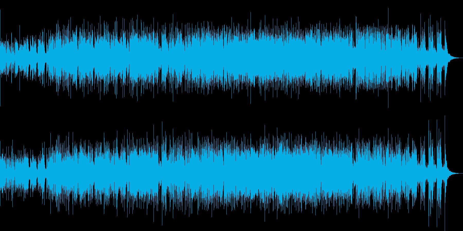 軽快でリズムカルなピアノトリオの再生済みの波形
