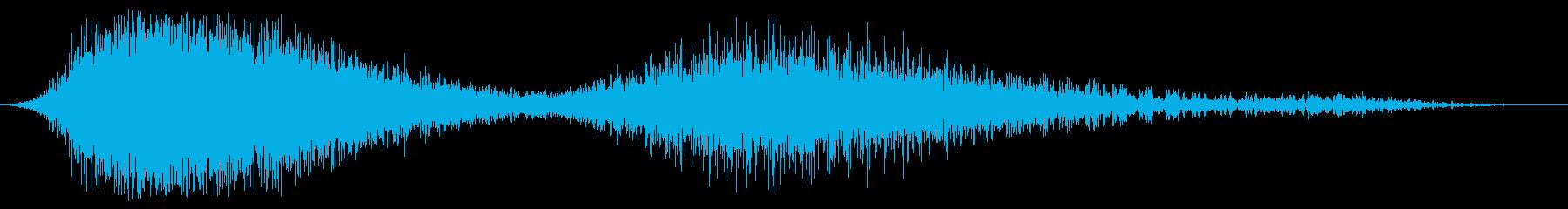 ダブルシューというパワーの再生済みの波形