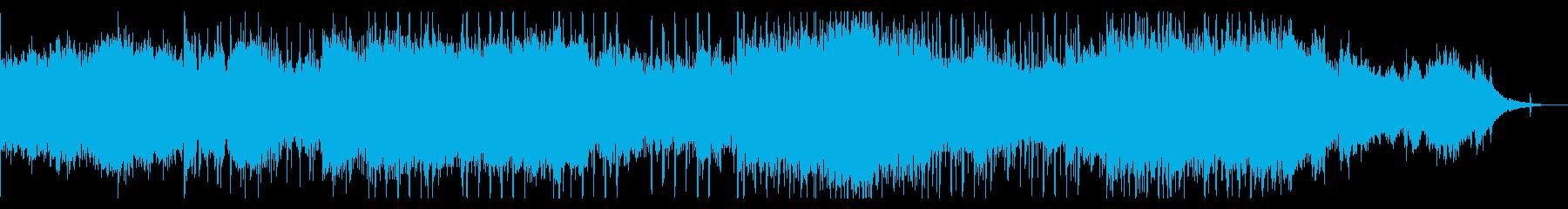 モダンなインダストリアルBGMの再生済みの波形