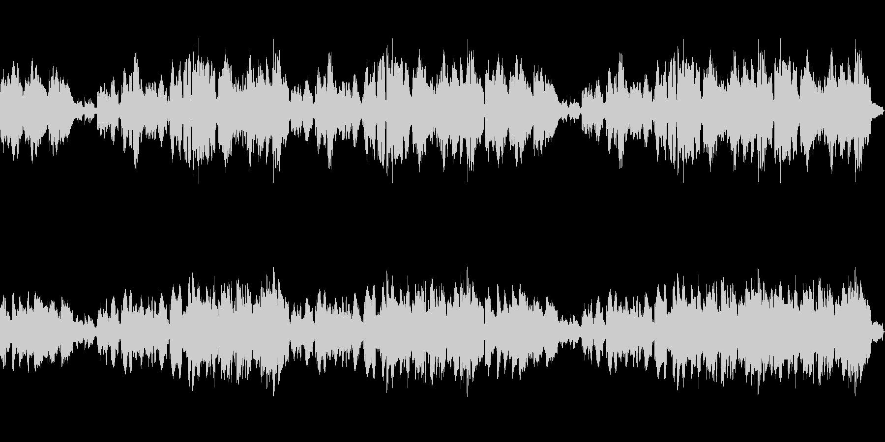 優しいメロディアスなクラリネットとピアノの未再生の波形