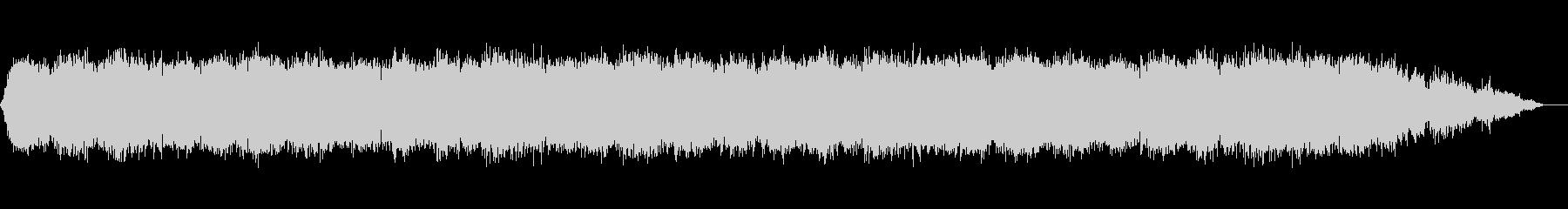 静かなシンセサイザーのリラックスサウンドの未再生の波形