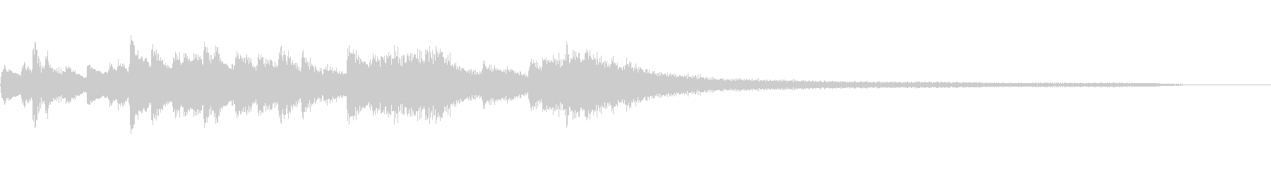 日本舞踊の和風のジングル7-ピアノソロの未再生の波形