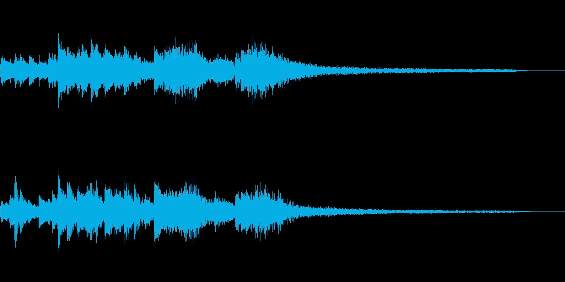 日本舞踊の和風のジングル7-ピアノソロの再生済みの波形