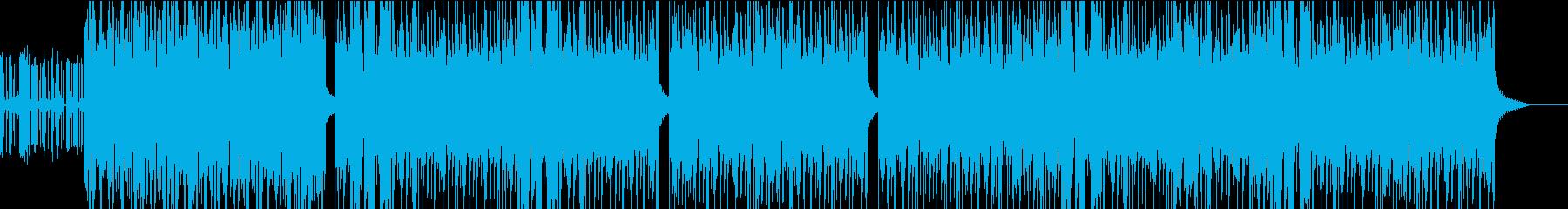 エレキギター 激しいファンク風な曲の再生済みの波形