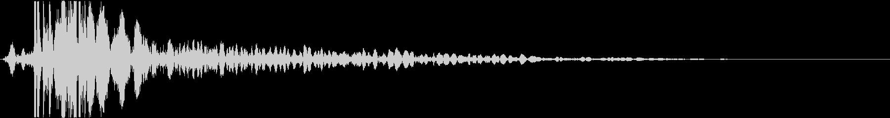 【銃】 30 ハンドガン ドンッの未再生の波形