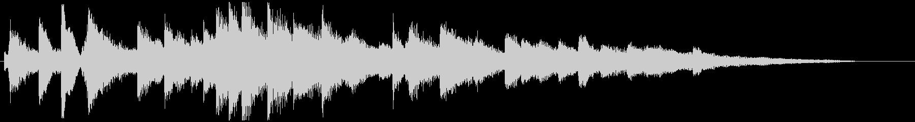 繊細なメロウな ピアノのジングル 20秒の未再生の波形