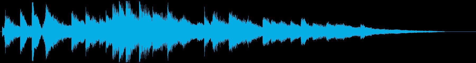 繊細なメロウな ピアノのジングル 20秒の再生済みの波形