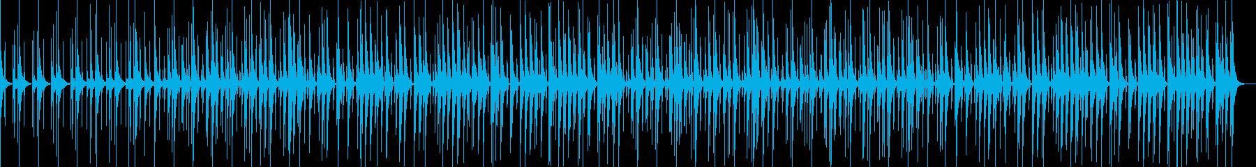 ほのぼの楽しいおしゃれでかわいい曲02の再生済みの波形