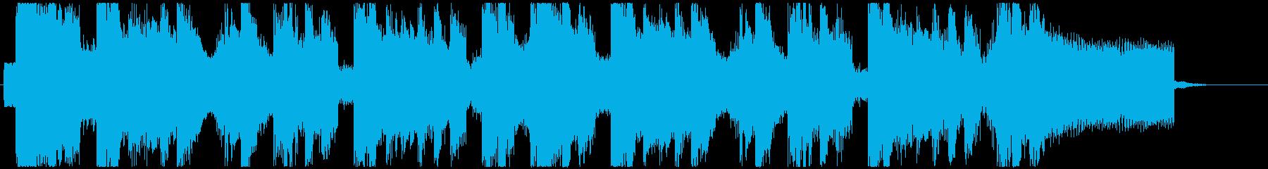 ピコピコゲームの勝利ジングルの再生済みの波形