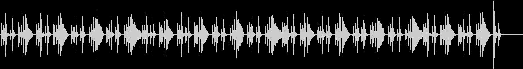 日常コミカル・シンプルで軽快なピアノの未再生の波形