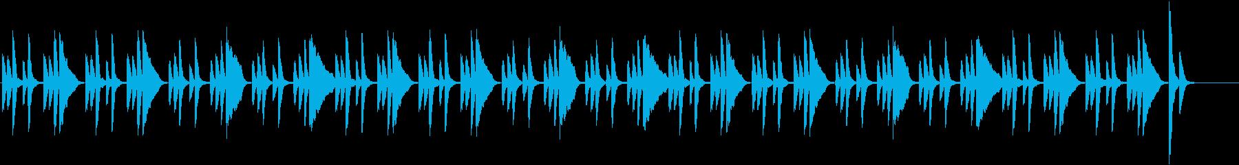 日常コミカル・シンプルで軽快なピアノの再生済みの波形