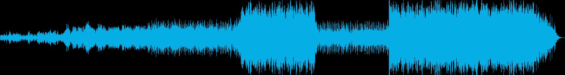 暗く憂鬱なBGMの再生済みの波形