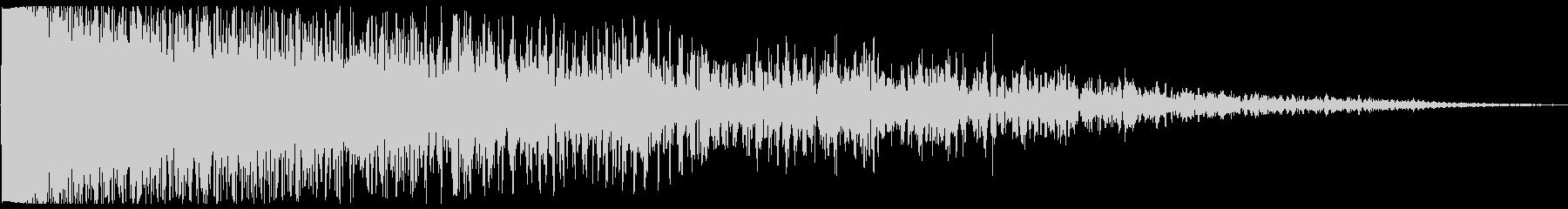 ビシューン(爆弾の音)の未再生の波形